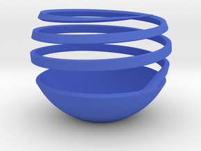 Spherical Spiral Vase 1 in Blue Strong & Flexible Polished