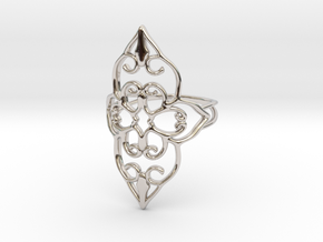 Bloom - size 7 in Rhodium Plated
