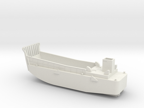 LCM3 Landing craft 1:144 scale for Big Gun Warship in White Strong & Flexible
