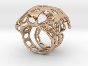 s4r016s7 GenusReticulum  in 14k Rose Gold Plated Brass