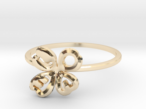 Clover Ring Size US 6.5 (16.8mm) in 14k Gold Plated