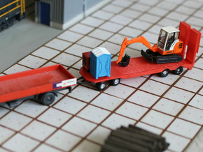 N Scale Construction Equipment Trailer in Smooth Fine Detail Plastic