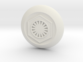 First Order Switch Cover in White Natural Versatile Plastic