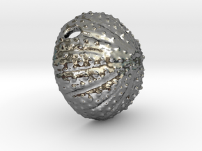 Large Urchin Pendant in Fine Detail Polished Silver