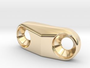 Cover for S3 Low Direct Mount - front derailleur M in 14k Gold Plated Brass