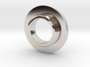Ag Torch: Brass Tail Ring (4 of 4) in Rhodium Plated Brass