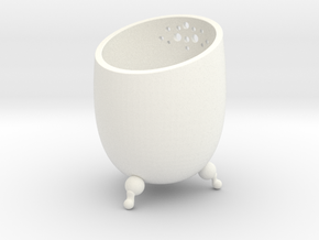 Small Pot  in White Strong & Flexible Polished