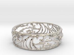 Sardine Wave Bracelet in Platinum