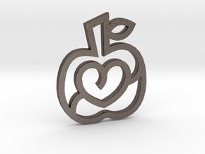 Passion Apple / Manzana de la Pasión in Polished Bronzed Silver Steel