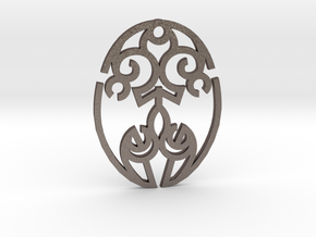 Nature Cosmic Egg / Huevo Cósmico de la Naturaleza in Polished Bronzed Silver Steel