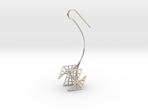 rose (small) in Rhodium Plated Brass