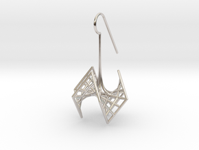 spiderRose (small) in Rhodium Plated Brass