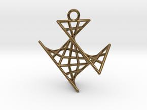 crux_pendant (small) in Natural Bronze