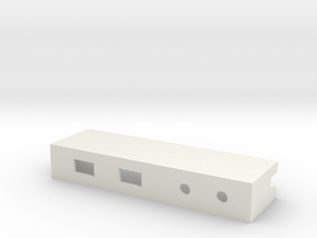 Drop-in Switch Holder with Two LED Holes - 1590B in White Natural Versatile Plastic