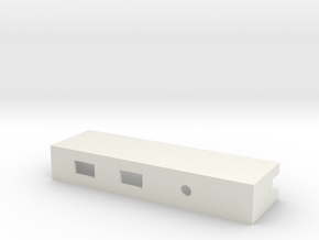 Drop-in Switch Holder with LED Hole - 1590B in White Natural Versatile Plastic