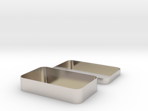 Parametric Rounded Box in Rhodium Plated Brass