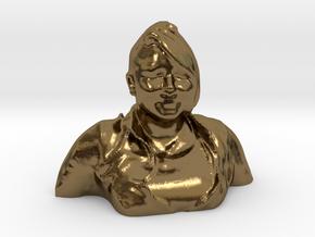 HUGE PRISCILLA HEAD in Polished Bronze