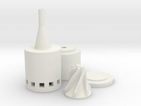 Micro Solar Water Pump 20Watt in White Natural Versatile Plastic