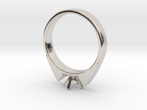 Alessa Design Ring For Diamond Ø17.83mm (Ø6mm New  in Rhodium Plated