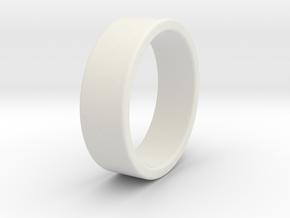 Bruno - Ring - US 9 - 19 mm inside diameter in White Strong & Flexible