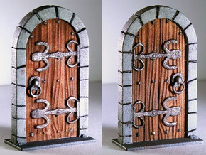 HeroQuest closed door v.01 in White Processed Versatile Plastic