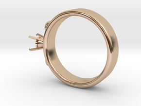 Ladybird Ring Ø16.25mm For Ø5mm Diamond in 14k Rose Gold Plated