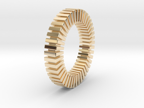 Patrick Tetragon - Ring in 14k Gold Plated Brass: 9 / 59