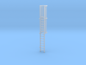 """'N Scale' - 15'-4"""" Ladder For Loadout Bin in Smooth Fine Detail Plastic"""
