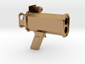 1/6 Scale Radar Gun in Polished Brass