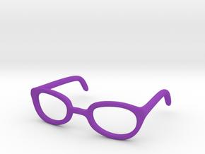Eye Glasses Frames Egg: BJD doll size MSD in Purple Processed Versatile Plastic