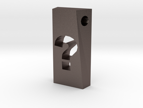 Question Mark Pendant in Stainless Steel