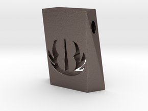 Jedi Pendant in Polished Bronzed Silver Steel