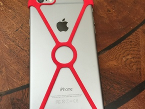 X shell for iPhone 6+ in Red Strong & Flexible Polished