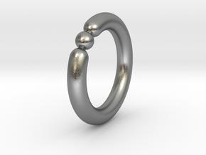 Bali Bania - Ballamond Ring in Natural Silver: 6.75 / 53.375