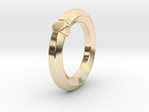 Hea - Ring - US 6.75 - 17.12 mm in 14k Gold Plated Brass: 6.75 / 53.375
