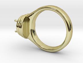 Alessa Design Ring Ø17.83mm  Ø8 Mm Diamond Fit in 18k Gold Plated Brass