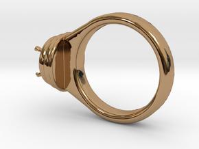 Alessa Design Ring Ø17.83mm  Ø8 Mm Diamond Fit in Polished Brass