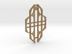 Art Deco Pendant in Matte Gold Steel