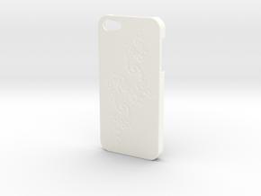 Julia Set Fractal - Iphone 5 Case in White Processed Versatile Plastic
