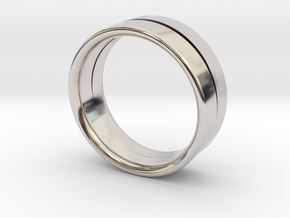 Design Ring Double Split Ø16.60 Mm Size 52 in Platinum