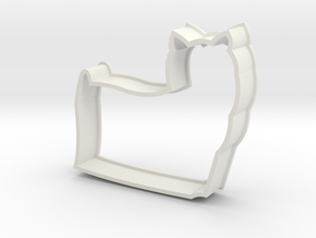 Long-haired Yorkie Cookie Cutter in White Natural Versatile Plastic
