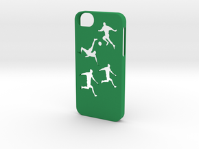 Iphone 5/5s soccer case in Green Strong & Flexible Polished