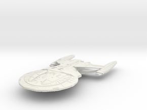 Enforcer Class BattleCruiser in White Natural Versatile Plastic