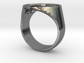 Enneagram Big Ring - Size 10.5 in Fine Detail Polished Silver