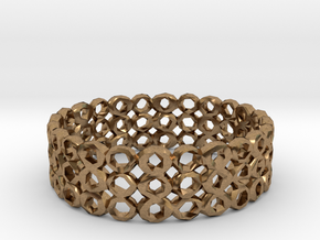 Ring Bracelet Low Polygon in Natural Brass