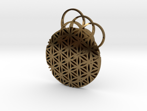 Flower Of Life Pendent in Polished Bronze