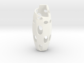 Flower Vase in White Processed Versatile Plastic