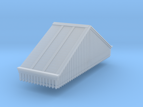 Platform Canopy Section 3 RH - N Scale in Smooth Fine Detail Plastic