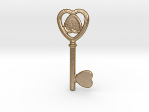 Key Of Love in Polished Gold Steel