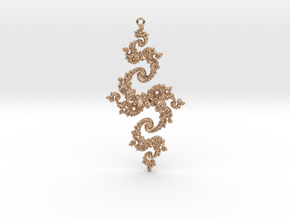 Julia Pendant 1 HP2 in 14k Rose Gold Plated Brass